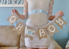 Shabby Chic It's A Boy Maternity Sash by FeltFromTheHeartXXOO, $40.00