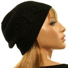 Winter Ladies Light Ribbon Bow Soft Knit Crochet Beanie Skull Ski Hat Cap Black SK Hat shop. $16.95