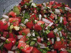 Diana Kennedy's recipe for classic pico de gallo salsa.