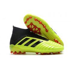 buy online 677d4 bc729 2018 Baratas Botas de fútbol Adidas Predator 18.1 AG Nuevos Hombre Fluo  Verde Negro