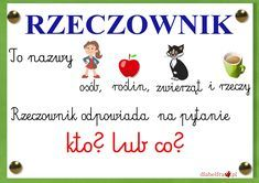 rzeczownik1 Polish Language, Homeschool, Classroom, Education, Life, Origami, Google, Speech Language Therapy, Therapy