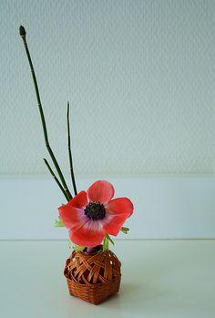 Ikebana in mini Ikenobo basket | Flickr: partage de photos!
