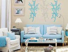 resultado de imagen de salones decorados en azul y blanco