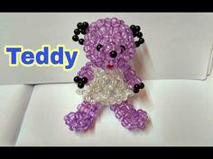 Hand made beaded teddy Bear/moti ka teddy/ puthi kaj/ Beaded Bracelet Patterns, Beading Patterns, Beading Ideas, Brick Stitch Tutorial, Hair Bow Tutorial, Beading Techniques, Jewelry Model, Beaded Animals, Beaded Bags