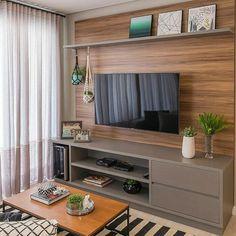 Amazing Modern TV Wall Decor Idea for Living Room Design Look Luxury - Istri Sholehah Living Room Tv Unit, Home Living Room, Interior Design Living Room, Living Room Designs, Living Room Decor, Tv Wanddekor, Tv Wall Decor, Home Decor Furniture, Furniture Online