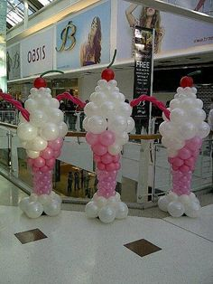 Ice Cream Sundae Balloons.. this would b adorable next to the ice cream bar...