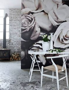 Improve Your Room. Useful Tips For Your Home Improvement Project. So you are ready to improve your home. You may feel that it's impossible to do your own home improvement proje Rose Wallpaper, Wall Wallpaper, Wallpaper Display, Wallpaper Ideas, Wallpaper Backgrounds, Loft Design, Wall Design, Frames On Wall, Framed Wall Art