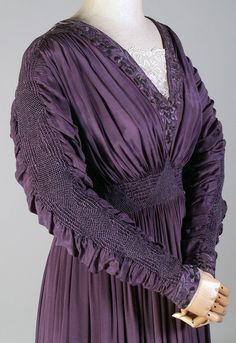 Liberty of London dress (detail) circa 1910. From the Kent State University Museum Pinterest.