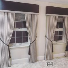 Another gorgeous combination for a fantastic client of Roman Blinds, Floor Length Curtains, Tie backs and matching Pelmets all by Ellis Hyde.