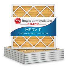 ReplacementBrand 24 x 24 x 1 MERV 11 Air filter  Furnace Filter Pack of 6 *** Read more  at the image link.Note:It is affiliate link to Amazon.