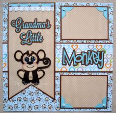 Layout using Monkey from Zoo Animals and banner from Banners Galore by CCD. Available at www.cuddlycutedesigns.com ~DT Debbie