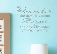 This is going in my bedroom, right over my bed....good reminder!     Blessings Vinyl Wall Decal Lettering Family Words Decor