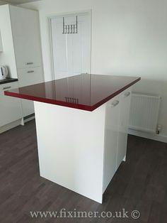 #Acrylic #ultra #high #gloss #kitchen #display #unit #madetomeasure  by Fiximer.
