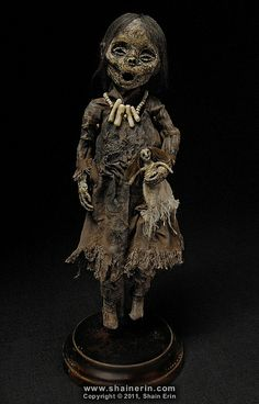 Mummy Art Doll Sculpture – by Shain Erin (love it!)