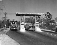In 1955 this toll plaza was removed and tolls for both north and south traffic were collected at the south end of the bridge (Isle of Wight County). Newport News Virginia, Virginia Beach, Fort Monroe, Virginia History, Geronimo, Isle Of Wight, Early American, Portsmouth, Cityscapes