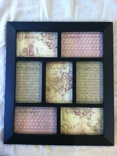 Dry Erase Framed Weekly Calendar / Menu Planner by lovemyladybugs, $28.00