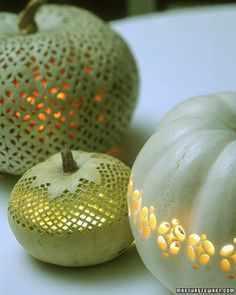 PUMPKINS: not just for pies and lattes. ...Whether you carve 'em, paint 'em, or bejewel 'em, you can't beat pumpkins when it comes to fall decorating!
