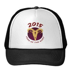 HAPPY NEW YEAR, 2015 , YEAR OF GOAT, GOAT, MESH HAT. get it on : http://www.zazzle.com/happy_new_year_2015_year_of_goat_goat_hat-148417582087847636?rf=238054403704815742