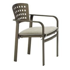 Impressions Stacking Dining Arm Chair with Cushion | Wayfair