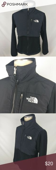 Women's Black The North Face Jacket Size XS The North Face jacket size extra small women's good condition no rips tears or stains does have normal wear jacket also has lent and hair that's kind of hard to get out that's why I'm selling cheap maybe someone else can get it out with a heavy duty lint remover jacket shell eggs made of 100% polyester Shelby's made of 100% nylon The North Face Jackets & Coats