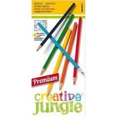 12 darabos, hegyezett, jó minőségű színes ceruza készlet Creative Jungle - Színes ceruzák - 379Ft - Színes ceruza készlet