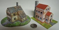 Desktop Architecture - European House Paper Model - by Papermau Download Now! - == -  This is a simple miniature house paper model to decorate your shelf or desktop. Easy-to-build, in only one sheet of paper. Enjoy!