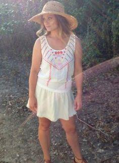 Bohemian Summer Dress - White www.UsTrendy.com