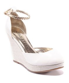 Take a look at this White Carina Wedge by Kiss & Tell on #zulily today! $17.99, regular 33.00