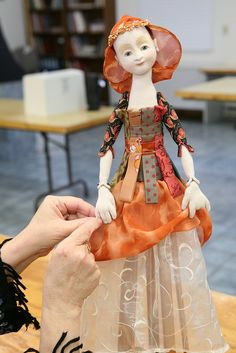 Santos Cage Skirt Doll with Leslie Molen   Flickr - Photo Sharing!  I loved making this doll!