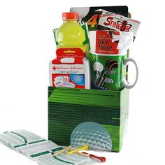 Golf Gifts I d Rather be Golfing Golf Gift Basket - There's no need to hide it, you know they'd much Rather Be Golfing then doing anything else. Gifts For Golfers, Golf Gifts, Organic Plants, Organic Gardening, Gardening For Dummies, Golf Ball Crafts, Homemade Fathers Day Gifts, Themed Gift Baskets, Golf Towels