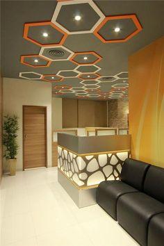 Office Interior Design Ideas In India Office Ceiling Design, House Ceiling Design, Ceiling Design Living Room, Bedroom False Ceiling Design, False Ceiling Living Room, Living Room Designs, Design Bedroom, Bedroom Ideas, Showroom Interior Design
