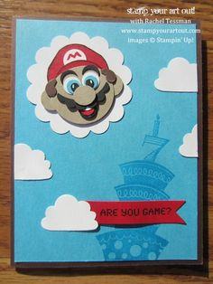 Mario Birthday Card: Stamp Your Art Out!