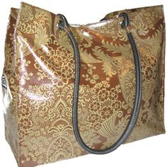 Coffee Toile Signature Tote - Fleebags Oilcloth Handbags for Women on the Fly.  Flee is a FABULOUS company. These bags are the best.