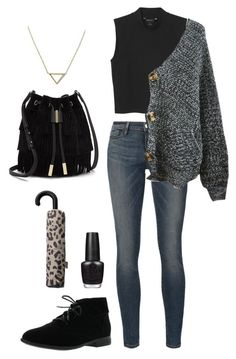 """Untitled #50"" by arielsepton ❤ liked on Polyvore featuring Frame Denim, Breckelle's, Monki, Chicnova Fashion, OPI, MANGO, Vince Camuto and Banana Republic"