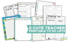A teacher's work most often seems like it's never done - but using a printable to do list can help. These 6 free printable to do lists can make teacher organization easier for your prep time, planning books and lesson plans.