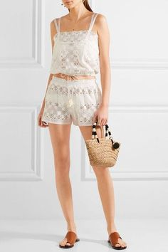 Miguelina | Georgina scalloped cotton-lace top | NET-A-PORTER.COM