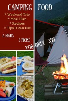 Weekend Camping Meal Plan - Create amazing family-friendly camp food on your family's next weekend campout. We have the meal plan, recipes, and tips you need to feed your family of 4-5 people for just $50! ad