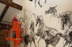 New owners pumping life back into Metamora's historic White Horse Inn Horse Mural, Equestrian Decor, Dragon Crafts, Dressage Horses, Horse Crafts, Horse Drawings, Majestic Animals, White Horses, Chinese Desserts