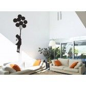 This wall sticker design was inspired by the graffiti artist, Banksy, and is perfect to create a large focal point in any room. The pack contains a Large Banksy Balloon Floating Wall Sticker. Banksy Wall Stickers, Wall Stickers Red, Banksy Wall Art, Banksy Graffiti, Floating Balloons, Floating Wall, Vinyl Wall Art, Wall Decals, Sticker Vinyl