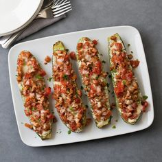Swap vegetables for noodles in this healthy lasagna-inspired recipe. Stuffing zucchini boats with chicken sausage, tomato, ricotta and herbs gives you all the flavors of lasagna without all the carbs. Scones, Granola, Quiche, Healthy Lasagna, Healthy Low Carb Recipes, Keto Recipes, Turkey Recipes, Recipes Dinner, Seafood Recipes