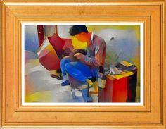 Shop Singapore Street Cobbler - Canvas Art Print created by TheDigitalConsultant. Singapore Art, Original Art, Original Paintings, Poster Prints, Posters, Any Images, Cobbler, Canvas Art Prints, Online Art Gallery