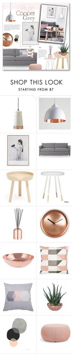 """Blush + Copper + Grey"" by alexandrazeres ❤ liked on Polyvore featuring interior, interiors, interior design, home, home decor, interior decorating, Dot & Bo, Muuto, Tom Dixon and Internoitaliano"