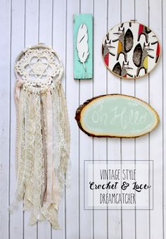 Vintage Style Crochet and Lace Dreamcatcher