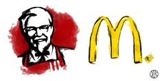McDonald's a KFC #mcdonalds #kfc