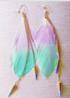 Feather earrings :)