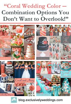 """Coral Wedding Color -- Combination Options you Don't Want to Overlook"" 