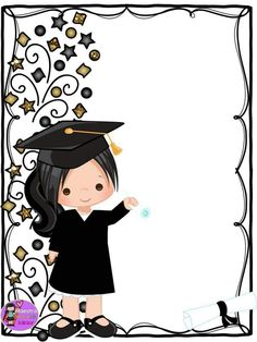 Fellow and teacher friends we thank Master Karen Liiz Salazar for di . Graduation Images, Graduation Cards Handmade, Graduation Crafts, Graduation Theme, Kindergarten Graduation, Graduation Invitations, Diy Home Crafts, Diy Arts And Crafts, School Border