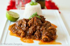 Chivo Guisado (Goat Meat - Dominican Style)
