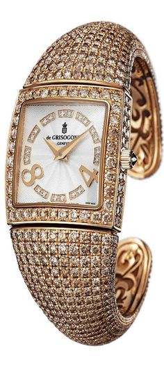 Discover high jewellery, luxury timepieces and unique styles of de GRISOGONO. Unmissable jewellery collections only on the official de GRISOGONO Website. Ring Watch, Bracelet Watch, High Jewelry, Jewellery, Beautiful Watches, Gold Fashion, Luxury Watches, Fashion Watches, Gold Watch