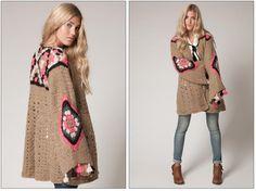 Ivelise Hand Made: Crochet y Tejido Por Agostina Bianchi Gilet Crochet, Crochet Winter, Crochet Jacket, Crochet Cardigan, Moda Crochet, Diy Crochet, Pull Sweat, Hippie Crochet, Knit Fashion